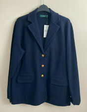 Lauren Ralph Lauren Ayelee Combed Cotton Blazer Jacket, Blue, X-Large, RRP £189