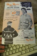 mary maxim vTg 436 womens/teenager sailing cardigan sweater knitting pattern