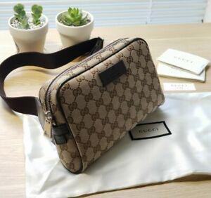 NWT Gucci Belt Bag Fanny Pack GG Waist Brown Canvas Clutch