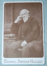 Robert Browning, Sepia Portrait Photograph by Barraud, Gilt Edged Postcard