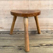Vintage French Stool Bobbin Legs Side Table Plant Stand Rustic Milking Stool