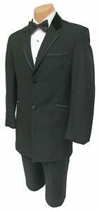 Men's Retro Andrew Fezza Black Tuxedo Jacket with Velvet Collar & Satin Trim 50R