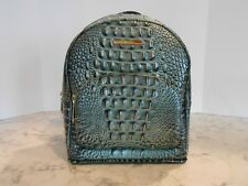 Brahmin Mini Dartmouth Backpack Obsidian Evergreen Melbourne Leather