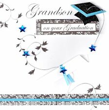 Grandson On Your Graduation Congratulations Greeting Card Handcrafted Cards