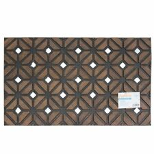 Entrance Rubber Sienna Geometric Weave Mat Attractive Design Scraper 45x75cm