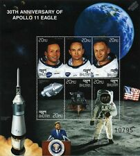 APOLLO XI Moon Landing Armstrong/Collins/Aldrin Space Stamp Sheet (1999 Bhutan)