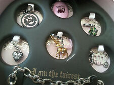 NWT JUICY COUTURE silvertone Fairytale Charm Set:  Knight, frog, carriage & more