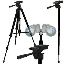 """2 in 1 Kit 150cm 59"""" Combined Tripod & Monopod + Binocular Adapter 1/4"""" Thread"""