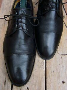 COLE HAAN Mens Dress Shoes Classic Black Leather Lace Up Cap Toe Oxford Size 11M