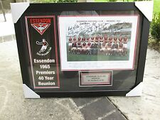 ESSENDON 1965 PREMIERS 40TH ANNIVERSARY TEAM SIGNED & FRAMED