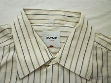 E7927 Olymp Luxor Businesshemd Kombimanschette 41 vanille, beige, braun, schwarz