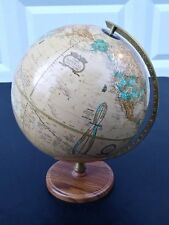 CRAM'S IMPERIAL WORLD GLOBE with Wood Base George F. Cram Made in USA