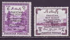 Pakistan 1958 SC 101-102 MNH Set Scout Jamboree