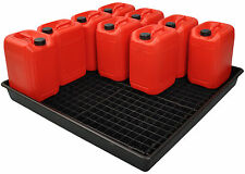 120L Oil and Chemical Bunded Drip Tray Sump Spill Pallet with Removable Grid