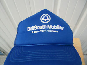 VINTAGE HEADWEAR BELL SOUTH MOBILITY TRUCKER SNAPBACK HAT CAP PREOWNED