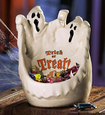 Halloween Party Decorations Large Ghost Trick-or-Treat Ceramic Candy Bowl Dish