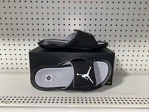 Jordan Hydro 6 Mens Sport Sandals Slides Flip Flops Size 9 Black Gray White