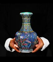 Jingdezhen Ceramic Vase Enamel Chinese Ming Qing Porcelain Antique Reproduction