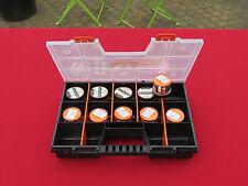 valisette +10 pots de pates a truite dynamite bait orange fluo