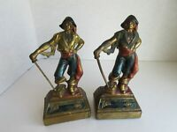 Armor Bronze Bookends - Pirate with Sword - Possible MisMatched Set