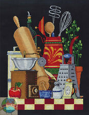 Juego de Punto Cruz ~ Janlynn Cocina Naturaleza Muerta Hornear & Herramientas #