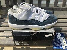 657d224910d AIR JORDAN XI 11 RETRO LOW WHITE SNAKESKIN NAVY SIZE 11.5 2001 RARE VINTAGE