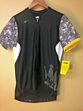Nike 10//2 Short Sleeve Cycling Jersey Women's Black Large, Dry Fit , 4 pocket
