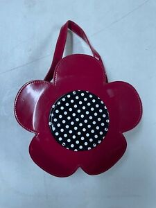 GYMBOREE  RED FLOWER  SHAPED PURSE 4 GIRLS ALL AGES EUC