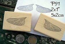 P91 Fairy wings rubber stamps (2 stamps)