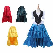 Mujeres Señoras Falda Feria Medieval de danza del vientre 7 Colores Fiesta Falda De Disfraz De Pirata