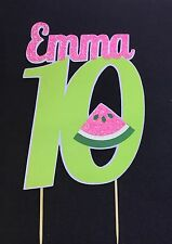 Summer Watermelon 🍉   themed Birthday name&number layered cake topper