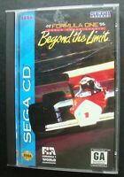 FORMULA ONE BEYOND THE LIMIT SEGA CD WITH CASE AND MANUAL