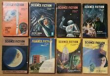 Astounding Science Fiction pulp 1949 8 great issues ~ skull cover ~ Asimov