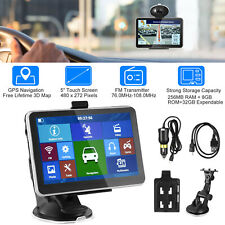 "5"" Truck Car GPS Navigation 8GB Navigator SAT NAV Free UK EU Map Touch Screen FM"