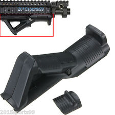 "Hunting Angled Foregrip Hand Guard Front Grip for Picatinny Quad Rail 7/8"" BK"