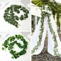 CHLINS Artificial Plants Eucalyptus Garland Long Leaf Greenery Foliage Decor 1m