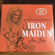 IRON MAIDEN - LIVE BOX : 3 CDs (2021) NEW SEALED 3 CD SET OF RADIO BROADCASTS