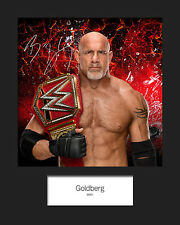 GOLDBERG #2 (WWE) Signed (Reprint) 10x8 Mounted Photo Print - FREE DELIVERY
