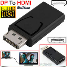 Display Port DP Male To HDMI Female Flat Adapter Converter For PC Laptop