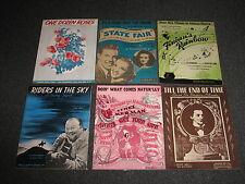 "1940s Sheet Music - Doin what comes Natur""lly ( Annie get Your Gun) + 5 More"