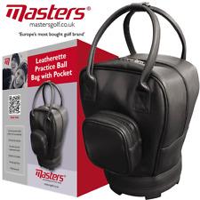 Masters Similicuir Rétro Pratique Balle Sac/Shag Sac/détient 130 Balles de golf