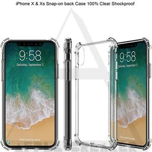 Shockproof Soft Silicon Gel Clear Raised Corner Case Cover For iPhone X & Xs UK