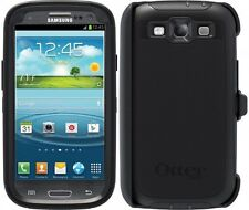 NEW OtterBox Defender Series Case & Holster for Samsung Galaxy S3 Black / Black