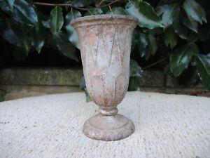 Vintage  Cast Metal Garden Urn  Floristry  Vase 15.5 cm high (41)