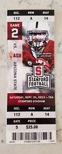 Stanford Cardinal Arizona State Football Full Ticket 9/21 2013 Stub Trent Murphy