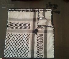 Premium Keffiyeh CAFIA Arab Scarf Black & Gray Tradition- 100% cotton