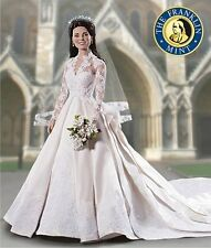 Franklin Mint Portrait Doll, Kate Middleton Wedding - Bride Doll, New in Box