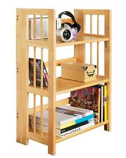 Premier Housewares 3 Tier Folding Shelving Unit 96 X 70 X 30 Cm - Rubberwood