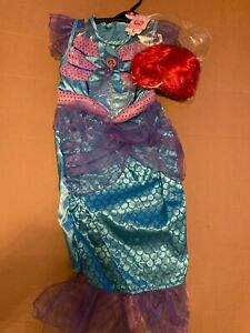 Disney Ariel The Little Mermaid costume with wig Age 9-10 years NEW