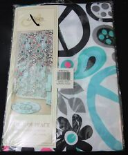Allure World of Peace Fabric Shower Curtain 70x71 new